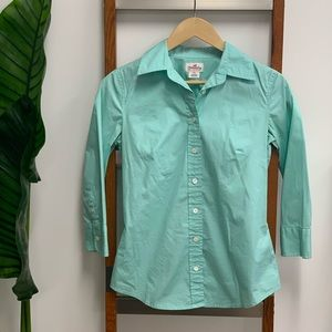 J.Crew Haberdashery Aqua Blue Button-Down